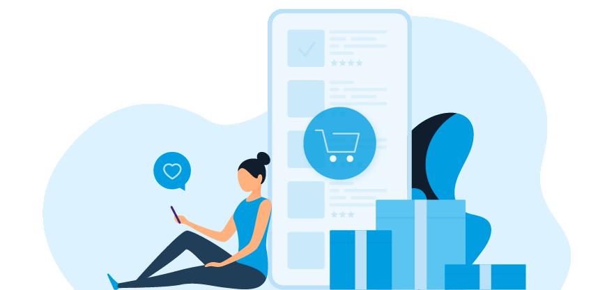La boutique en ligne et la vente d'objets promotionnels